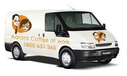 Aarons Coffee At Work Van
